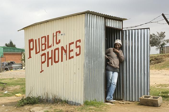 Sydafrika telefonhytt